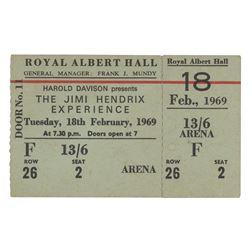 Jimi Hendrix Experience 1969 London's Royal Albert Hall Full Ticket and Original Concert Program
