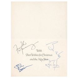 Queen Signed Christmas Card
