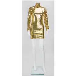 Lady Gaga's Joanne Tour Gold Sequin Dress