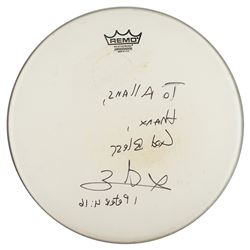 Prince/Sheila E. Stage-Used Drum Head Signed by Sheila E.