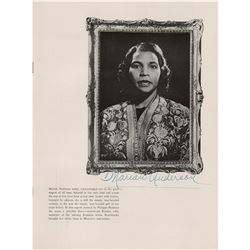 Marian Anderson Signed Program
