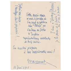 Jules Massenet Autograph Letter Signed