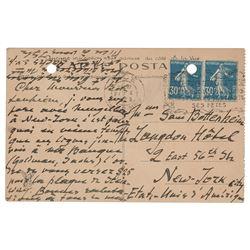 Igor Stravinsky Autograph Letter Signed