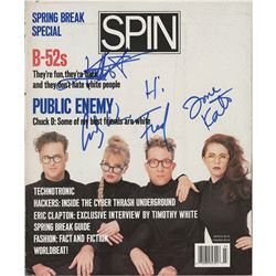 B-52s Signed Magazine Cover