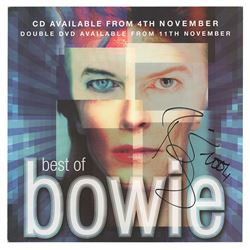David Bowie Signed Album Flat
