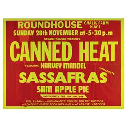 Canned Heat Original 1976 Roundhouse Concert Poster