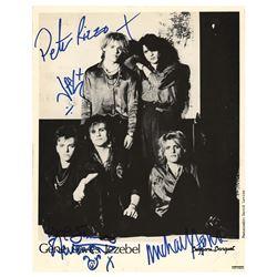 Gene Loves Jezebel Signed Photograph