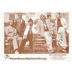 Peter Green Splinter Group Signed Photograph