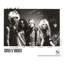 Guns N' Roses Signed Photograph