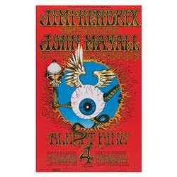 Jimi Hendrix 'Flying Eyeball' Reprint Poster