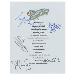 Jefferson Airplane Signed Replica Set List