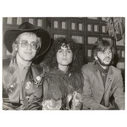 Elton John, Marc Bolan, and Ringo Starr Original Photograph