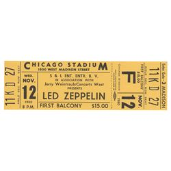 Led Zeppelin (3) Original Tickets
