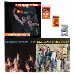 Rolling Stones (3) Programs and (3) Tour Passes