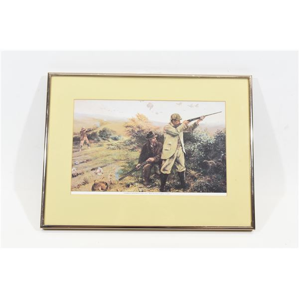 Framed Upland Bird Hunting Print