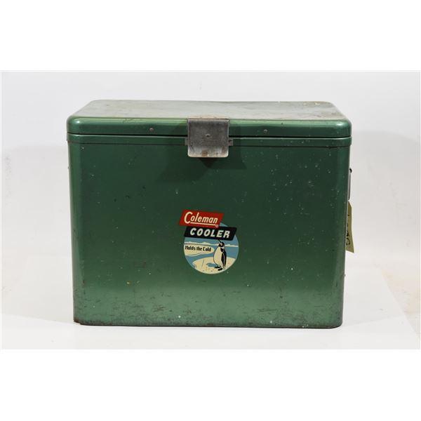Vintage Metal Coleman Cooler