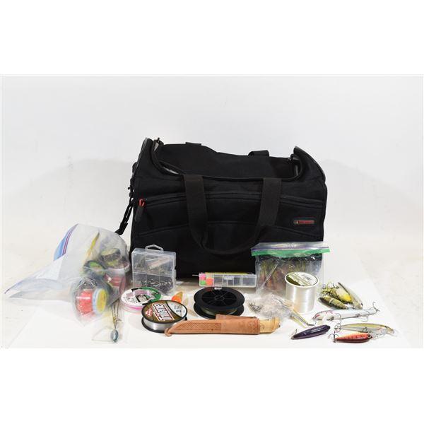 Box Lot Assorted Fishing Items