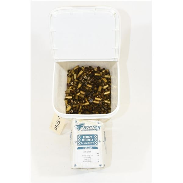 .45 ACP Brass Partial Box .45 Projectiles