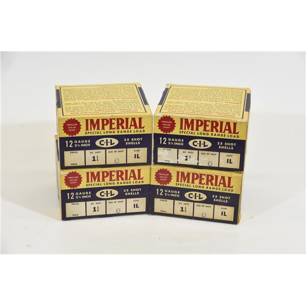 4 Boxes Imperial 12 Gauge #6 Shot 1-1/4 oz
