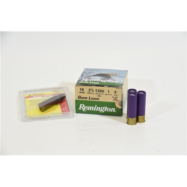 16 Gauge Shotgun Ammunition & Snap Caps