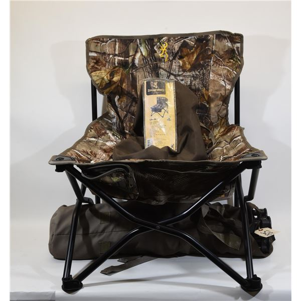 2 Browning Camo Striker Fold Up Chairs