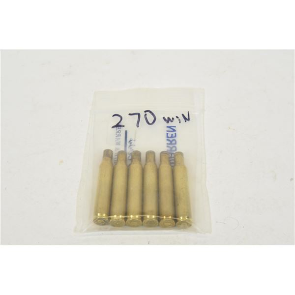 6 Pieces of 270Win Brass