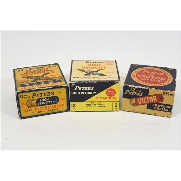 Box Lot Peters 12 Gauge Ammunition
