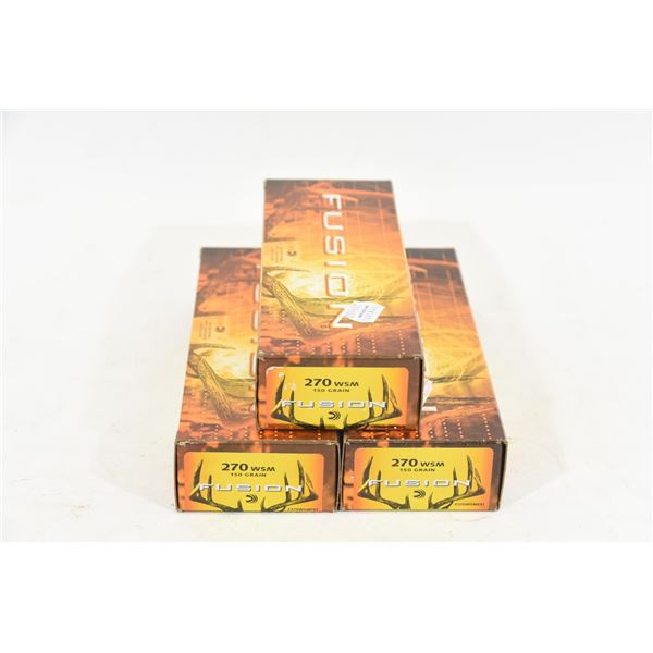 60 Rounds Federal 270 WSM 150gr Fusion