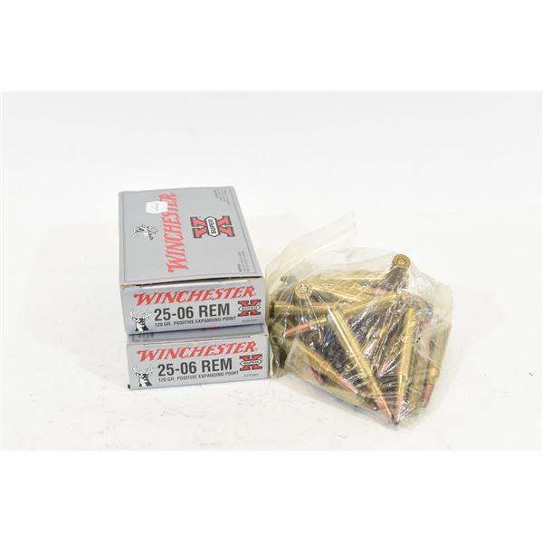 Mixed Lot 25-06 Remington Ammunition