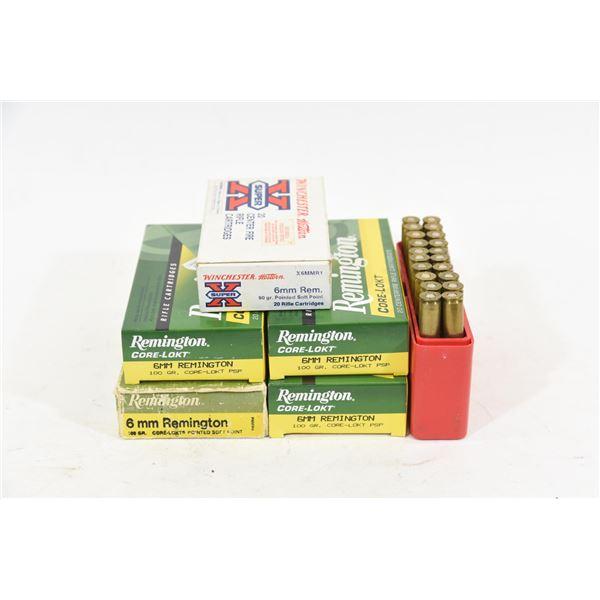 Mixed Lot 6mm Remington Ammunition