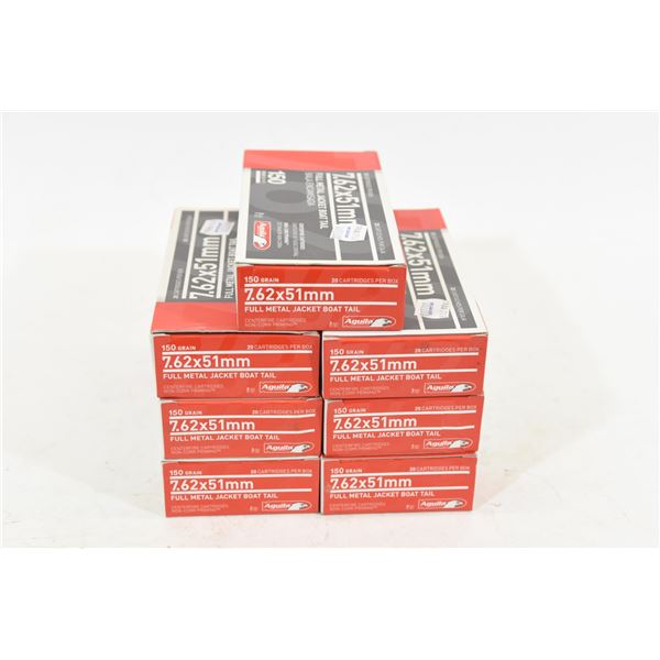 140 Rounds Aguila 7.62x57 150gr FMJ Boat Tail