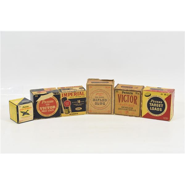 Assorted Empty Vintage Shotgun Shell Boxes
