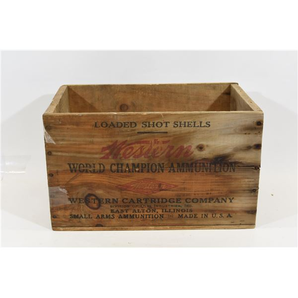 Vintage Western Cartridge Company Wooden Ammo Box