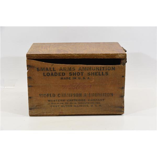 Wooden Western Arms Ammunition Box