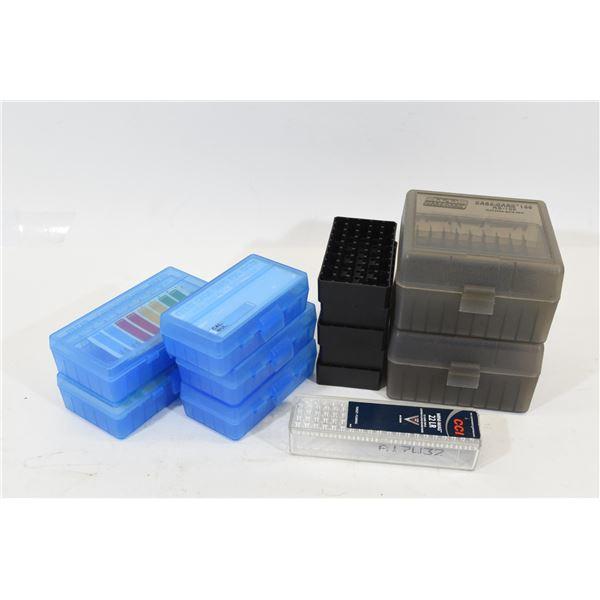 Box Lot Assorted Plastic Shell Holders