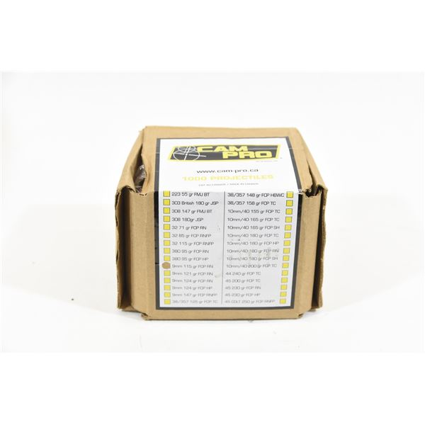 1 Box 9mm 115gr. FCP RN Approximately 1000 Pieces