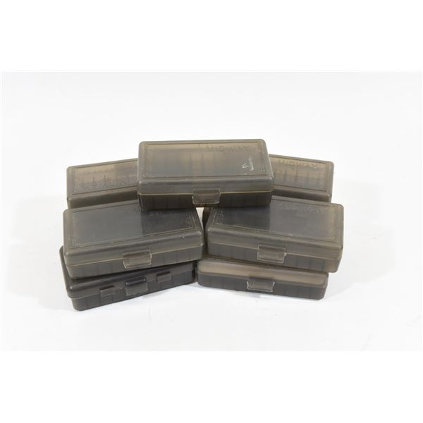 9 50 Round Plastic Ammunition Boxes