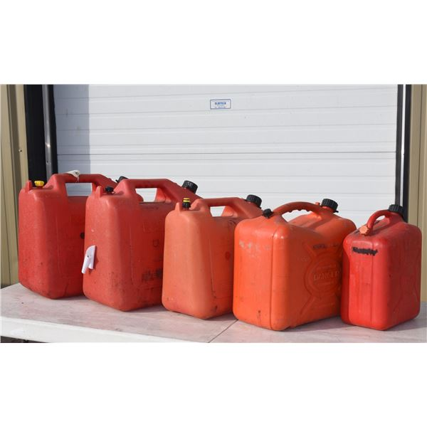 Lot Gas Cans