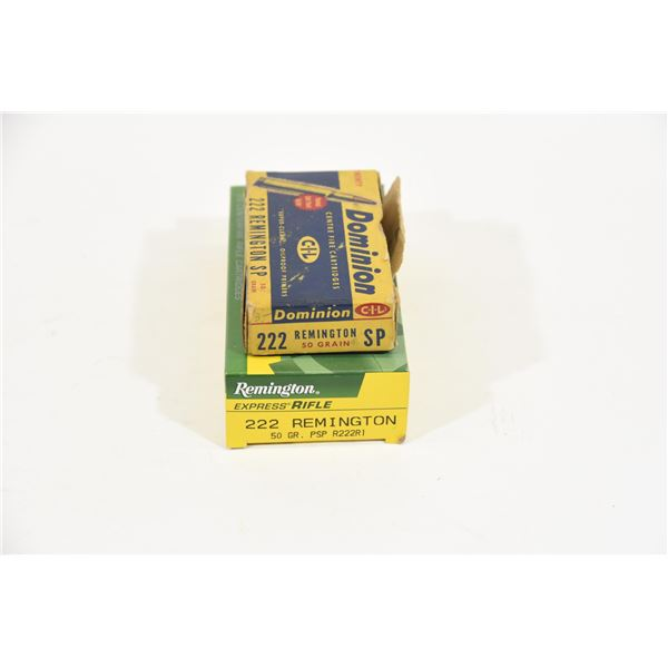 Assorted .222 Remington 40 Rounds 50gr.