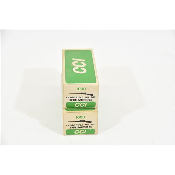 Approximately 2000 Large Rifle Primers CCI
