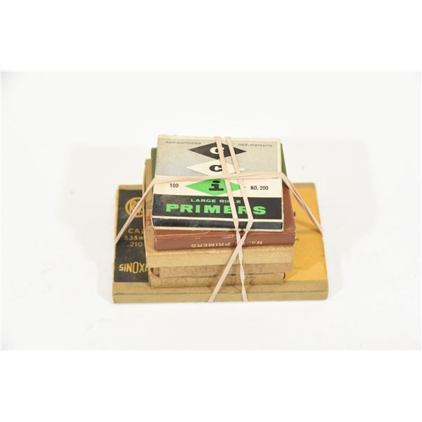 6 Boxes Vintage Primers