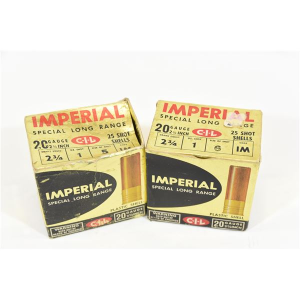 Approx 30 Rounds Assorted  Imperial 20 Gauge