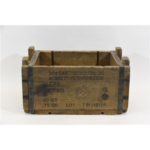 Wooden Ammunition Box