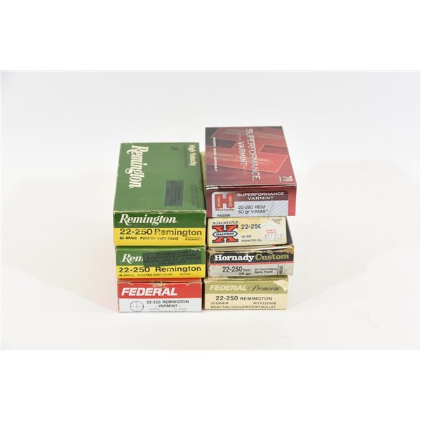 Box Lot 22-250 Ammunition