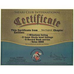 SCI Certificate