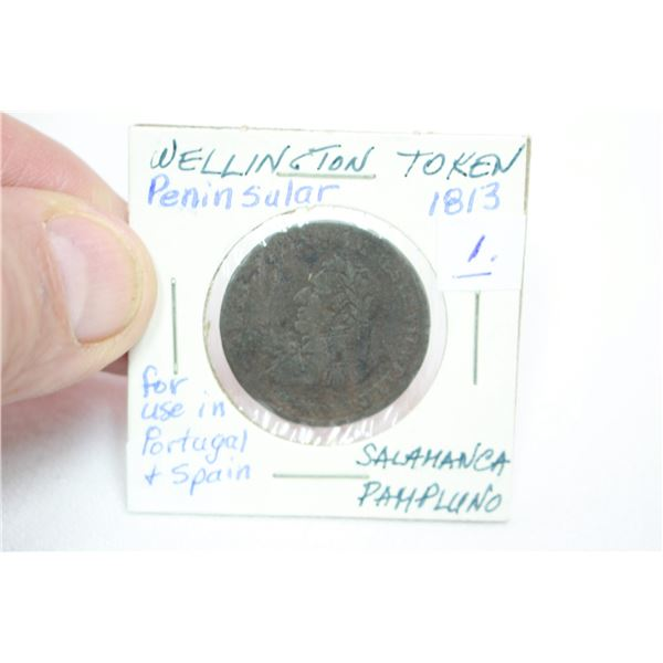 Wellington Peninsular Token - 1813 - used in Portugal or Spain