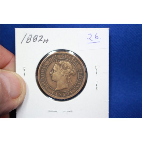 Canada One Cent Coin - 1882H