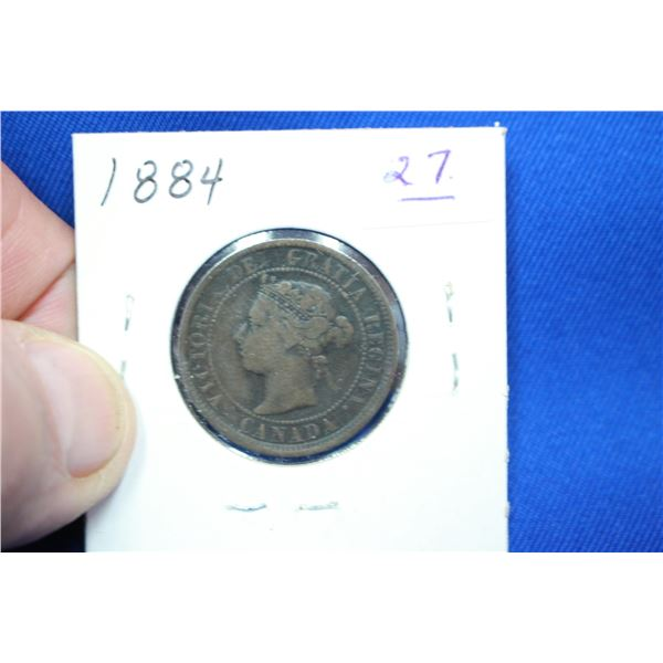 Canada One Cent Coin - 1884