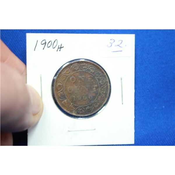 Canada One Cent Coin - 1900H
