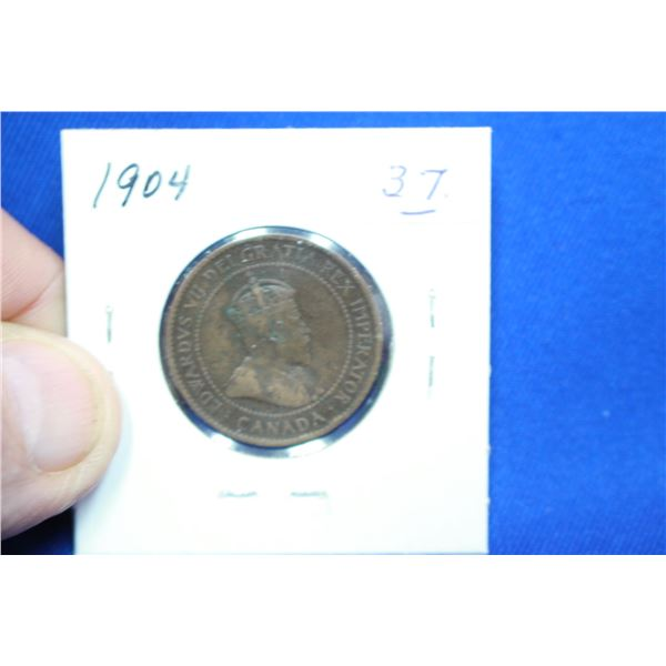 Canada One Cent Coin - 1904